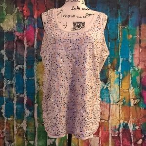 Stylus sequins front tank